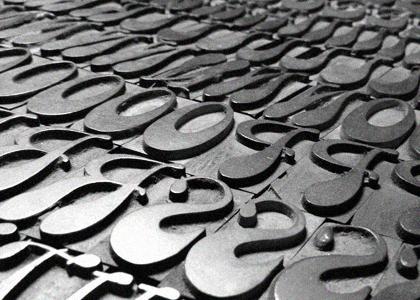 Script Wood Type Letterpress